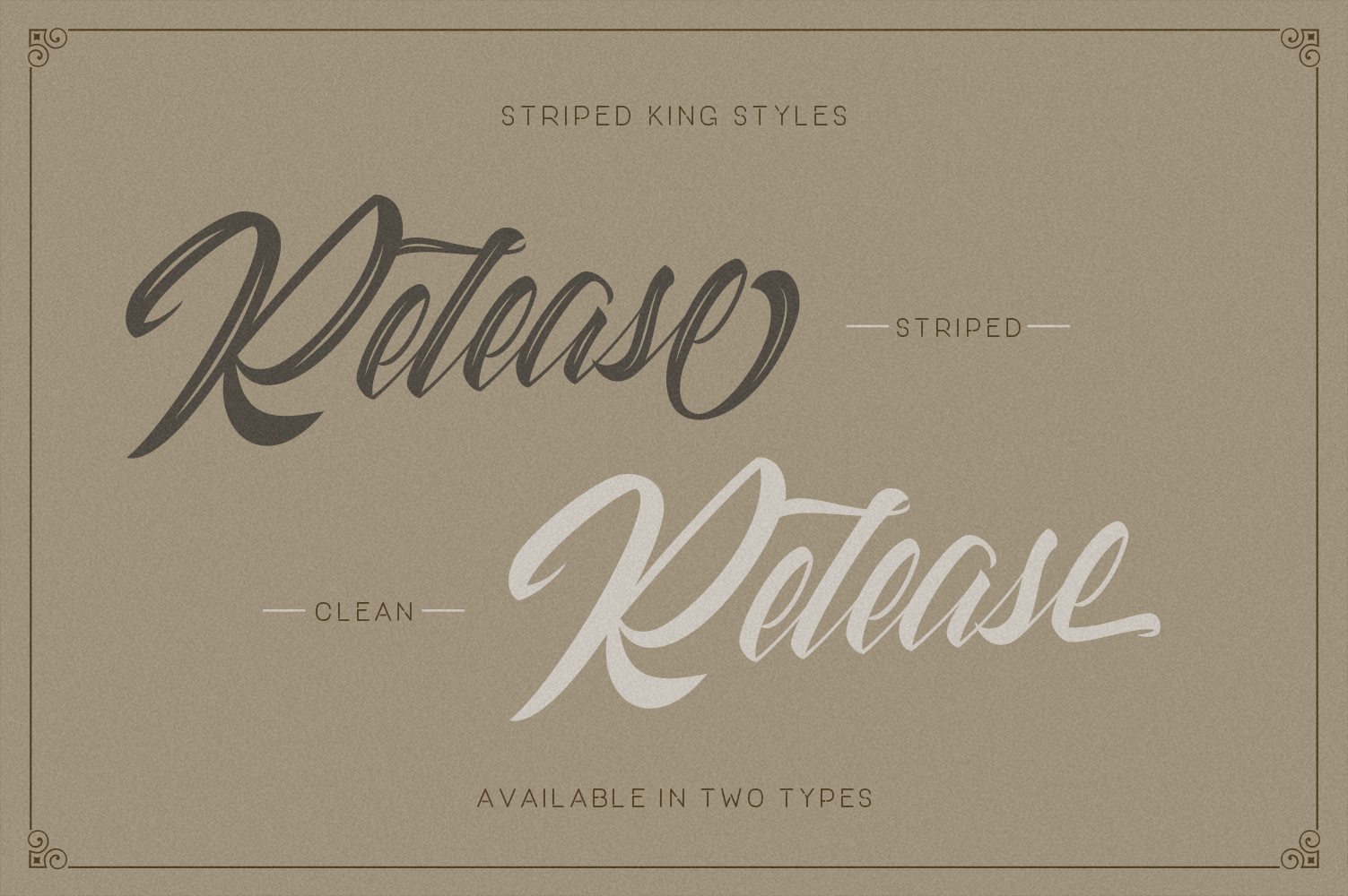 Striped King Vintage Script example image 6