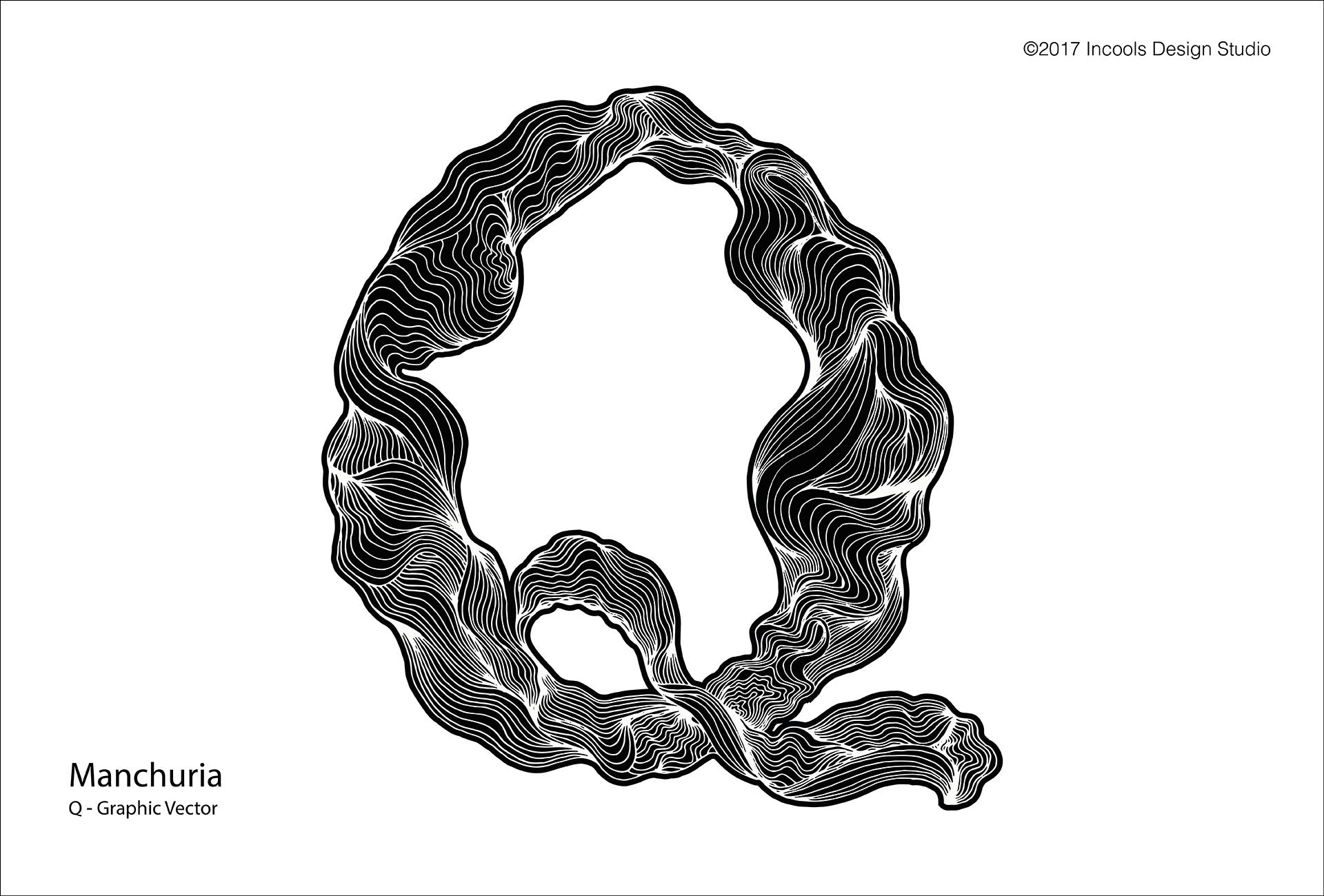 Manchuria, A-Z Unique Graphic Letter example image 1