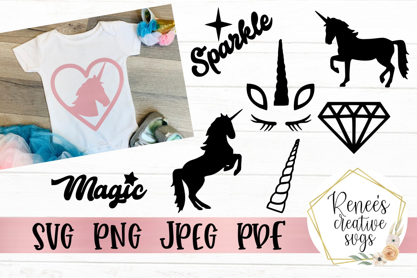 Unicorn bundle | Unicorn SVG | SVG Cutting File example image 1