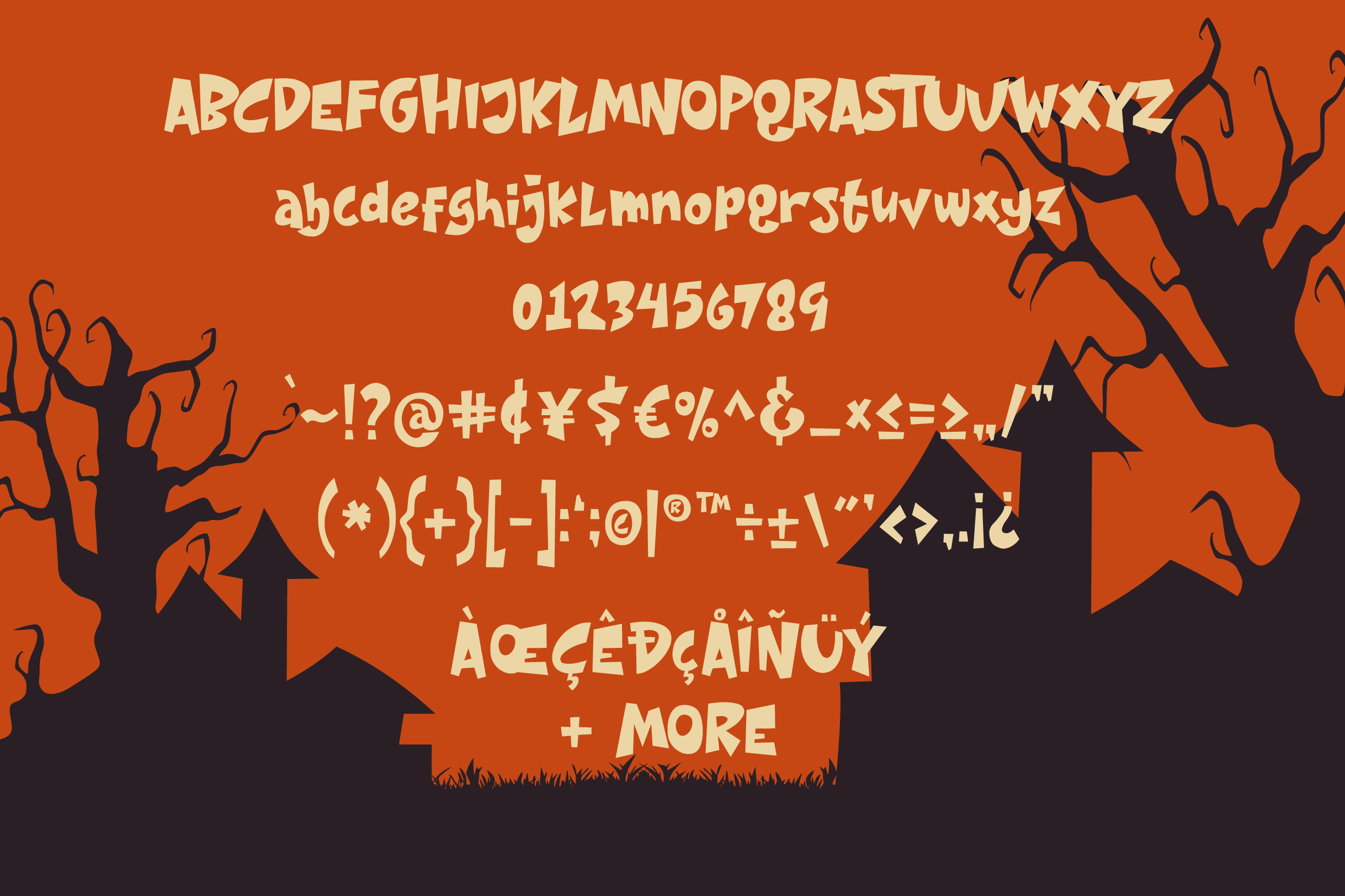 Night House - A Fun Display Font example image 7
