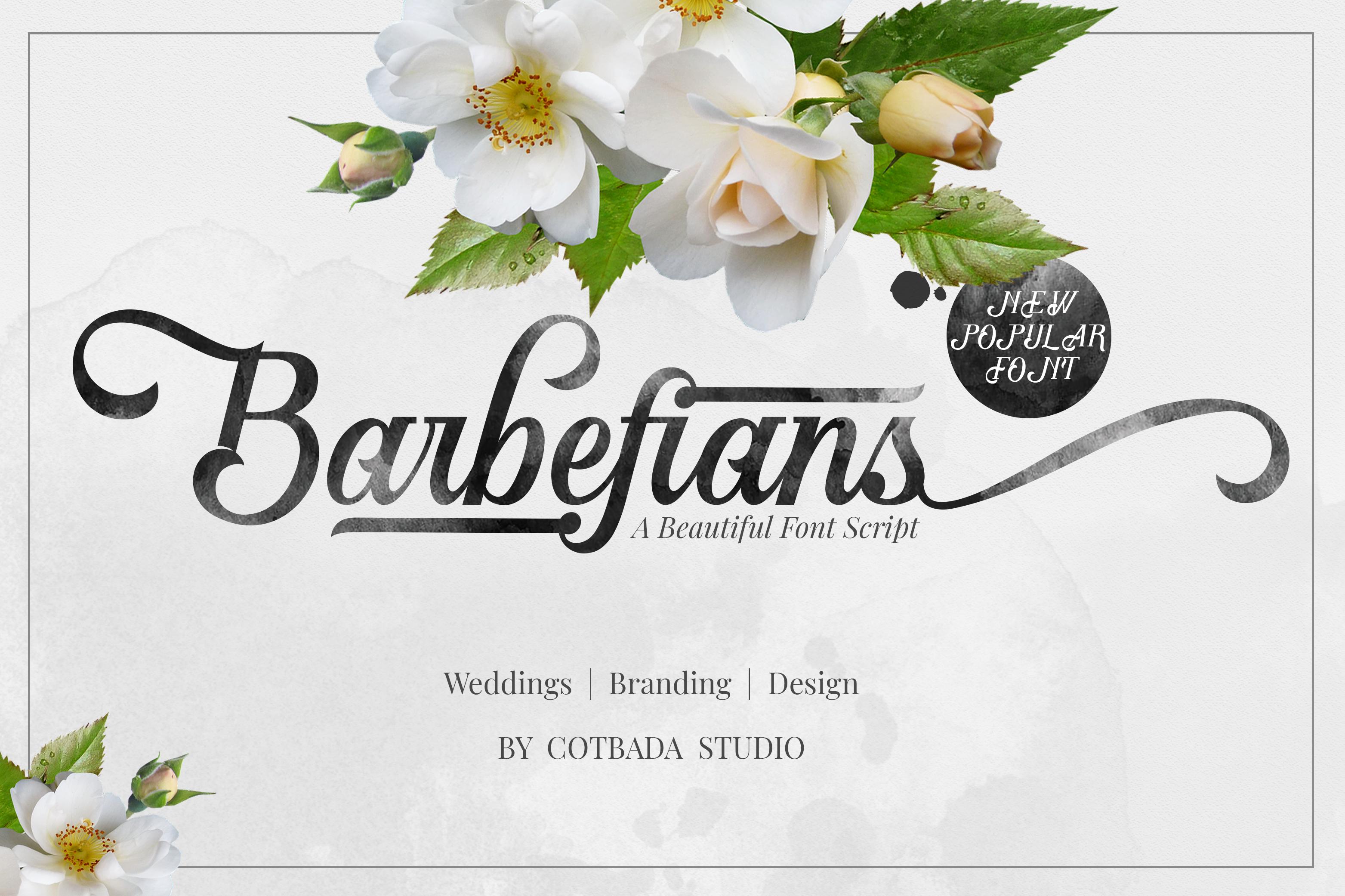 Barbefians Font Script example image 1