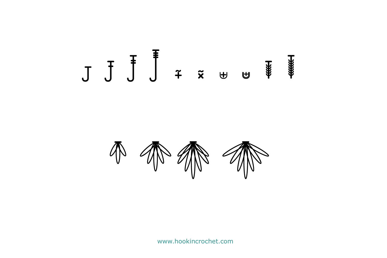 HookinCrochet Symbols 2 Font Software example image 7