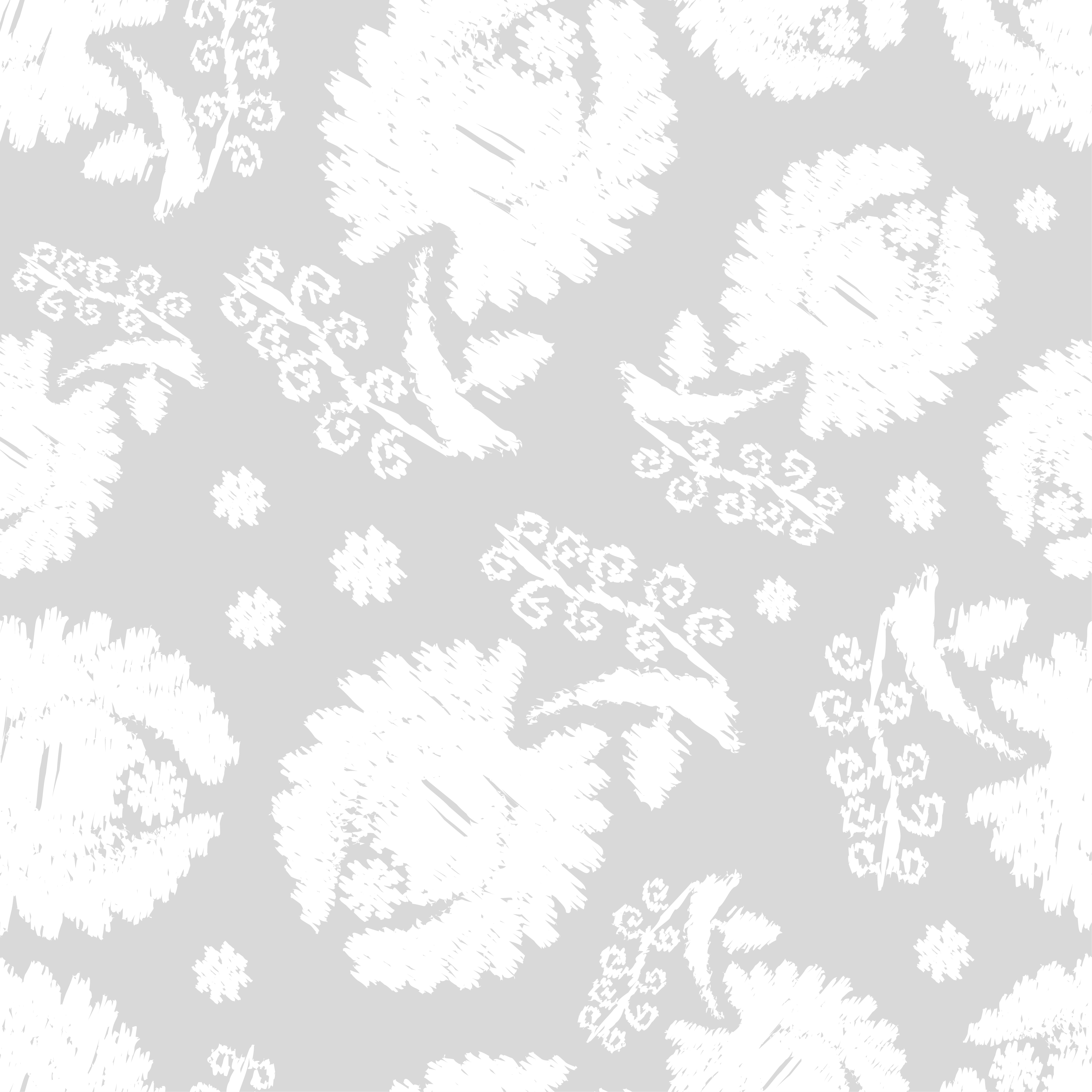 Set of 6 Seamless vector background. White flowers on a gray background. example image 5