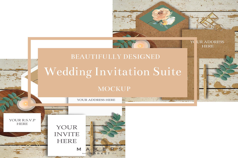 Wedding Mockup/ Wedding Invite Mockup/ RVSP Mockup example image 3