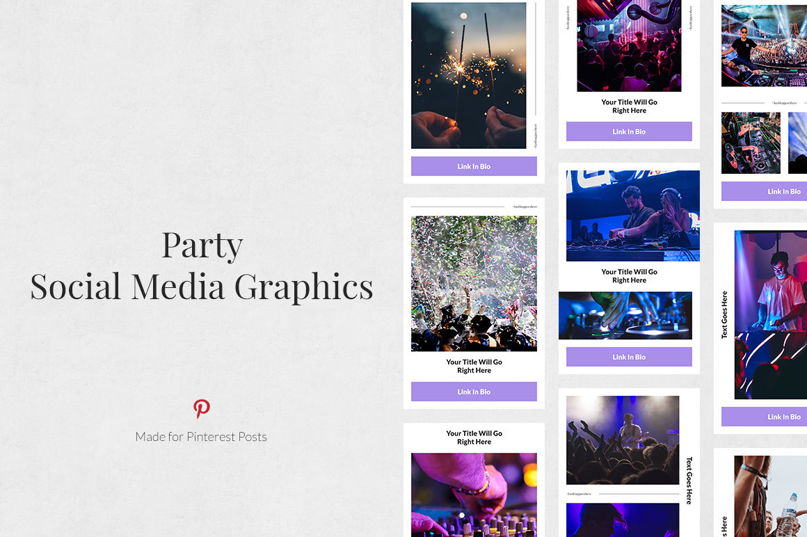 Party Pinterest Posts example image 1