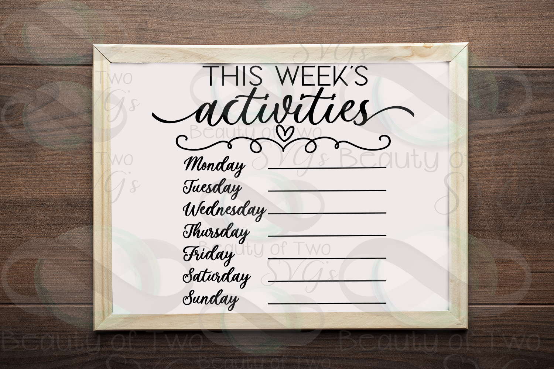 This week's organization svg Bundle, Menu svg, chores svg example image 9