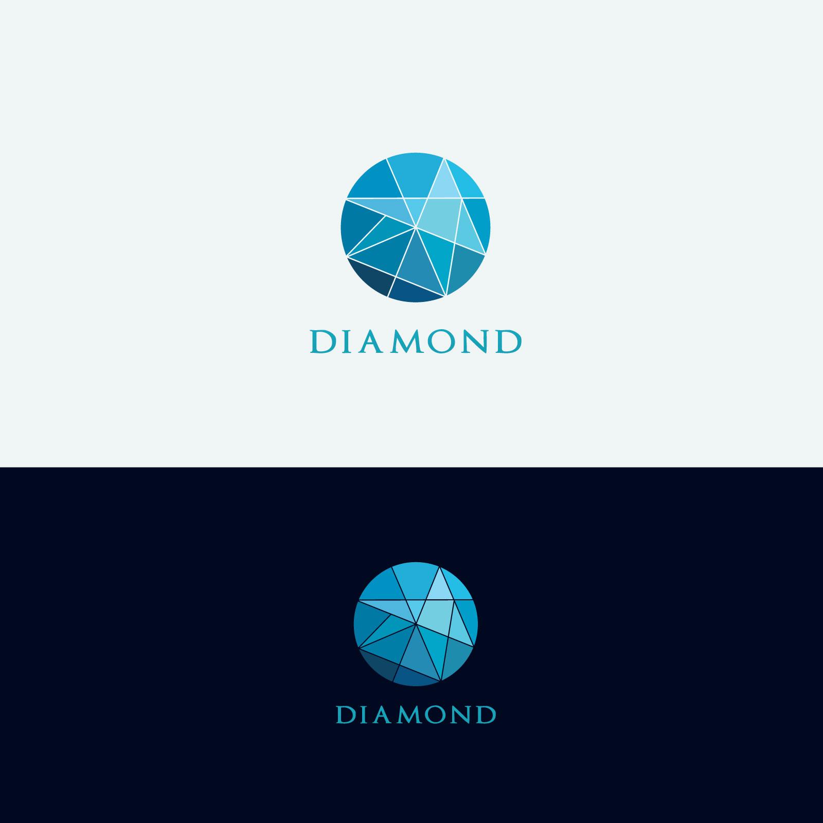Diamond vector logos collection example image 3