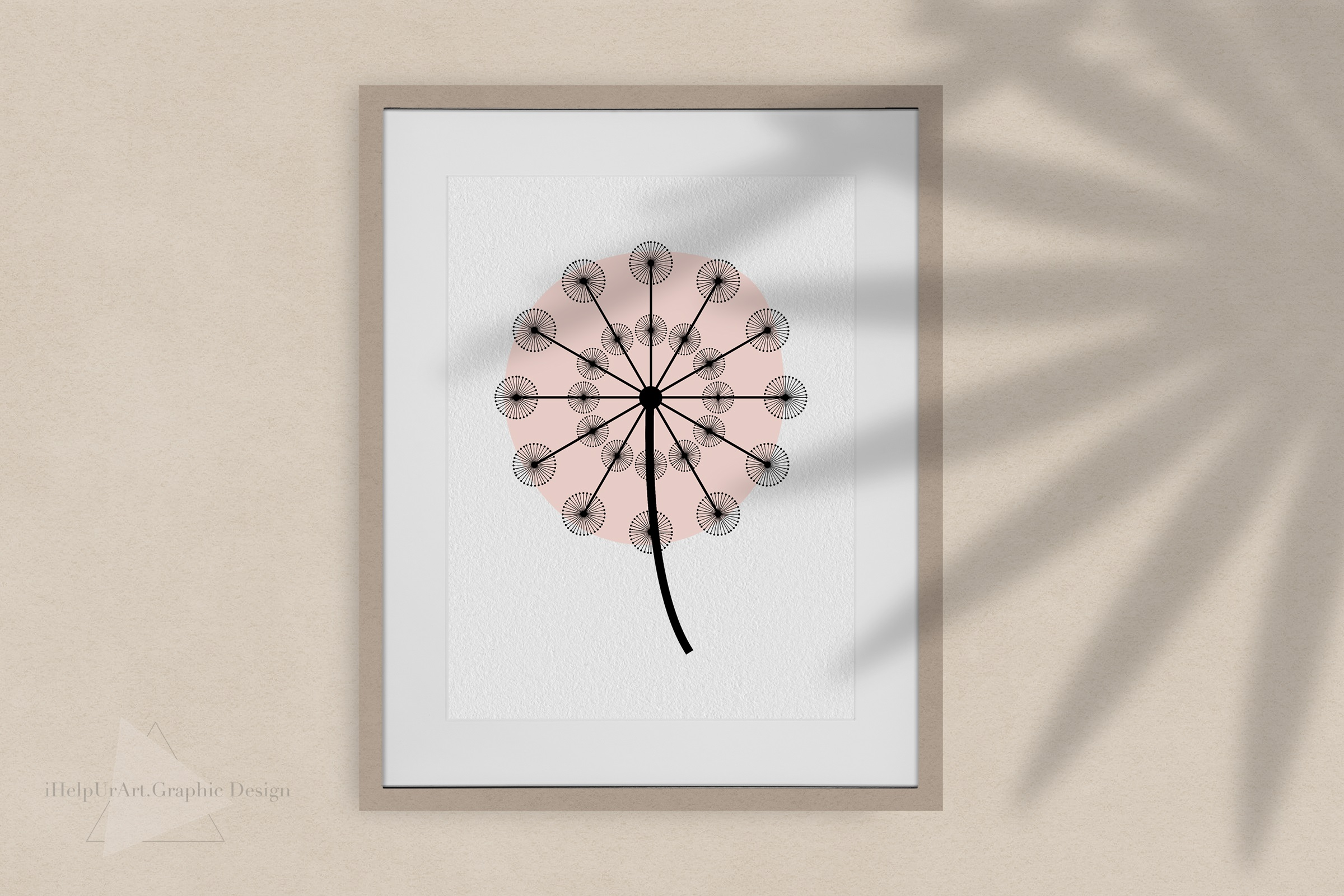 Dandelion Clipart - Floral Design - Modern Abstract Flowers example image 2