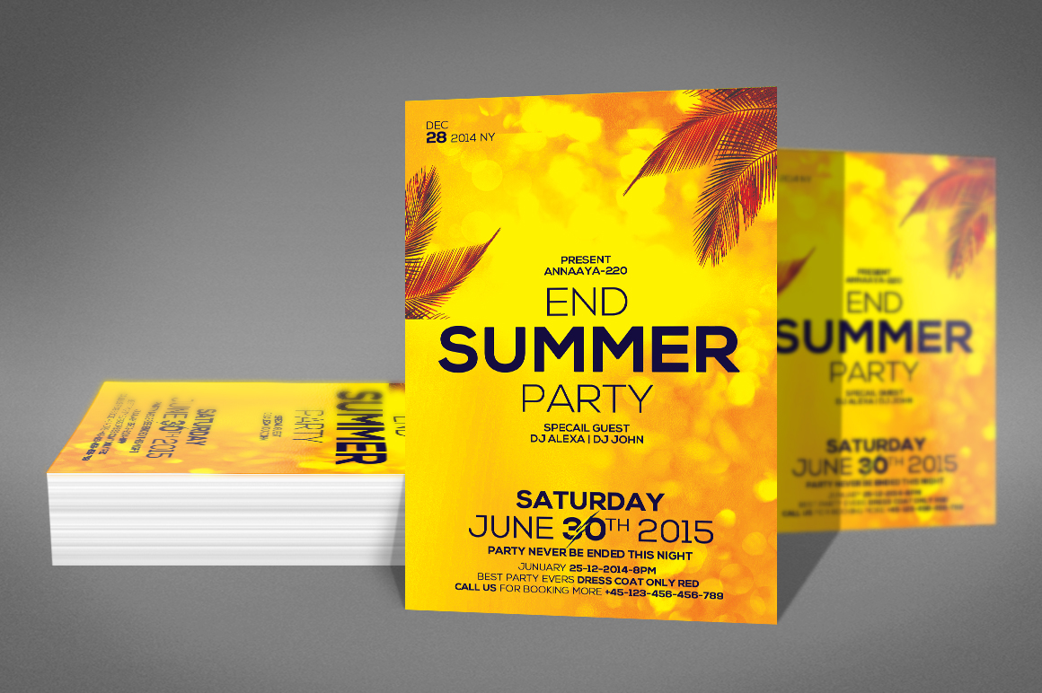Summer End Party Flyer example image 2