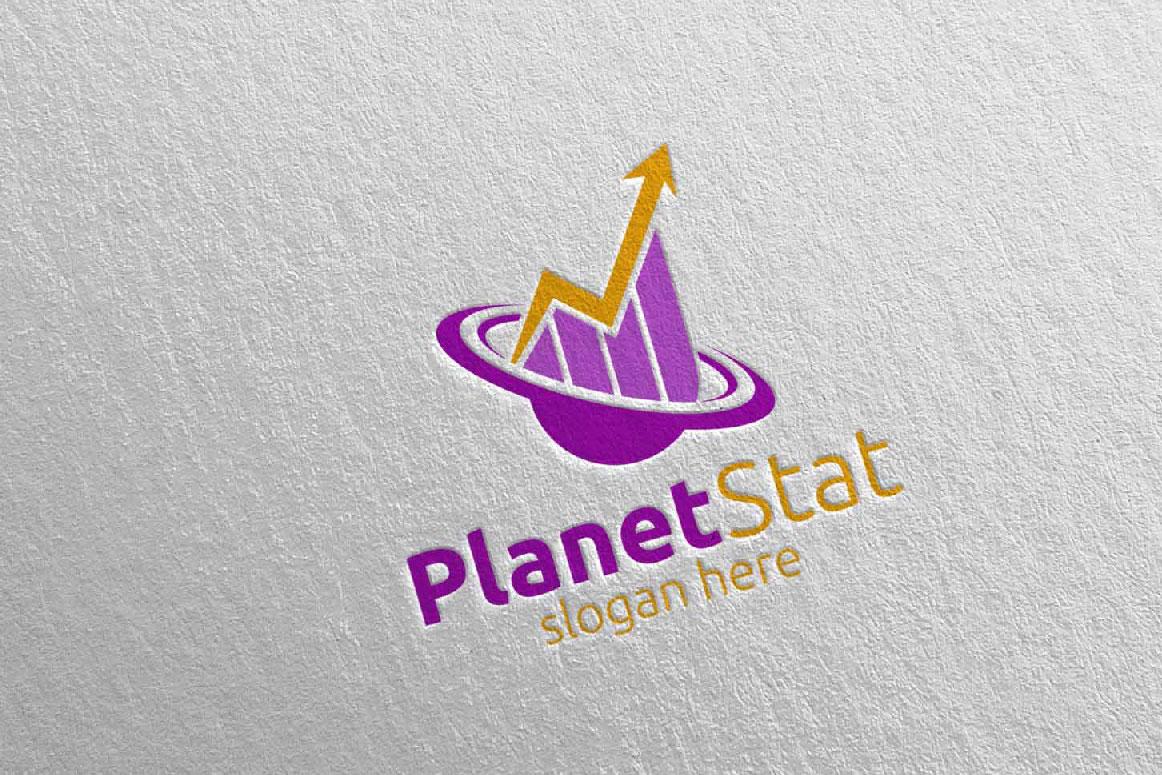 Planet Marketing Financial Advisor Logo Design 25 example image 4