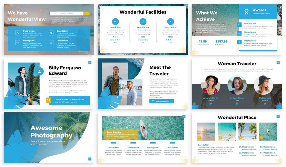 Trevallo - Summer Powerpoint Template example image 3