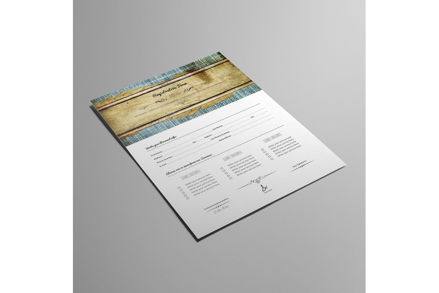 Registration Form Template v11 example image 5