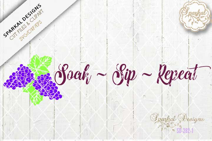 Soak Sip Repeat , Bath Tray Design example image 2