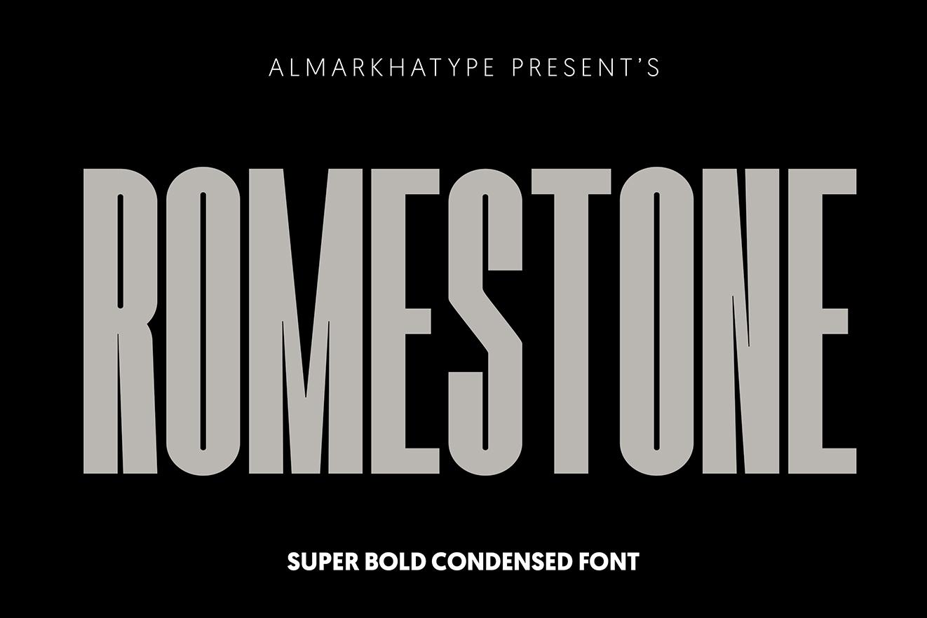 Romestone - Super Condensed Sans example image 9