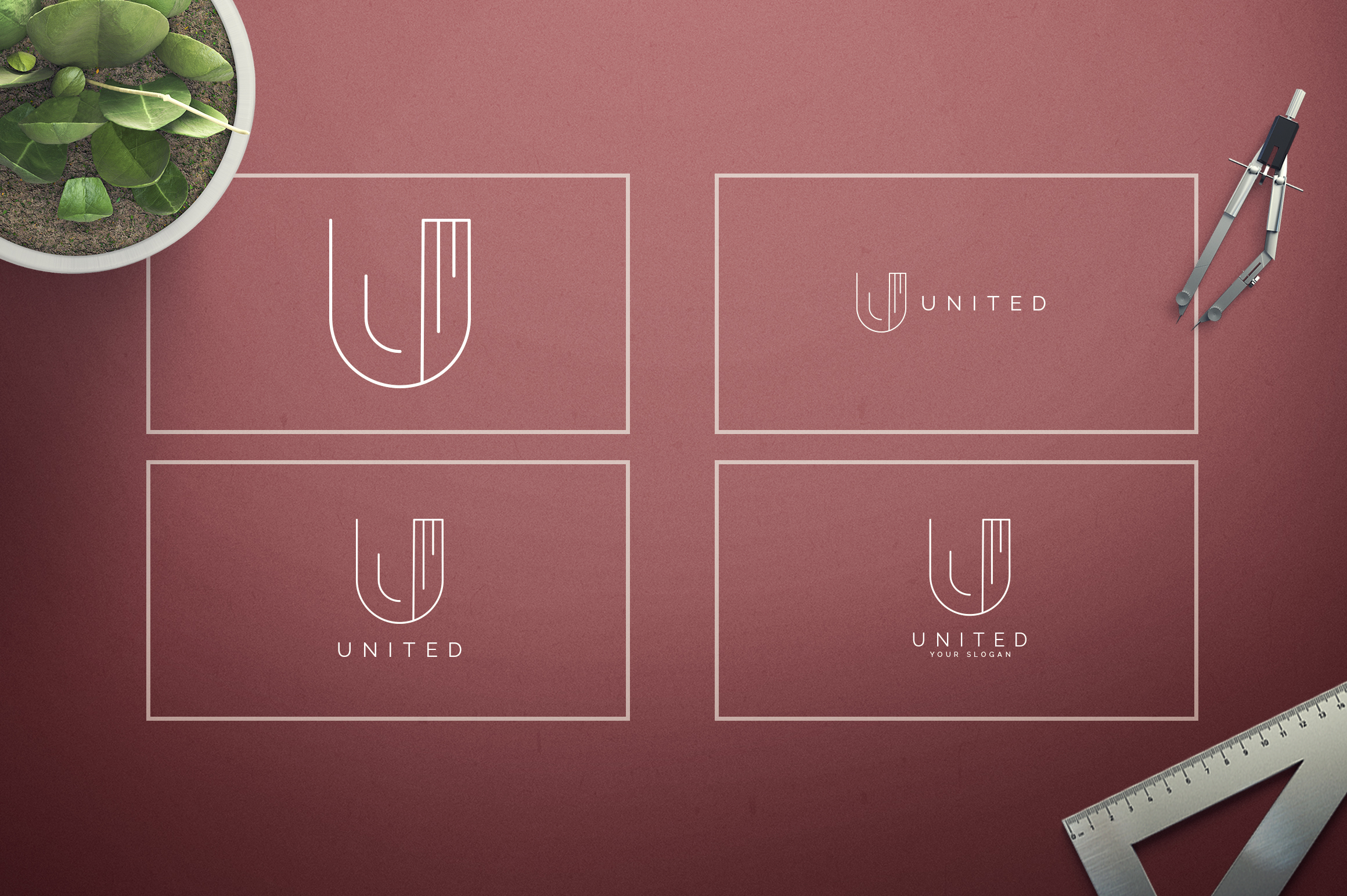 Geometric Letters and Logo Designs example image 22