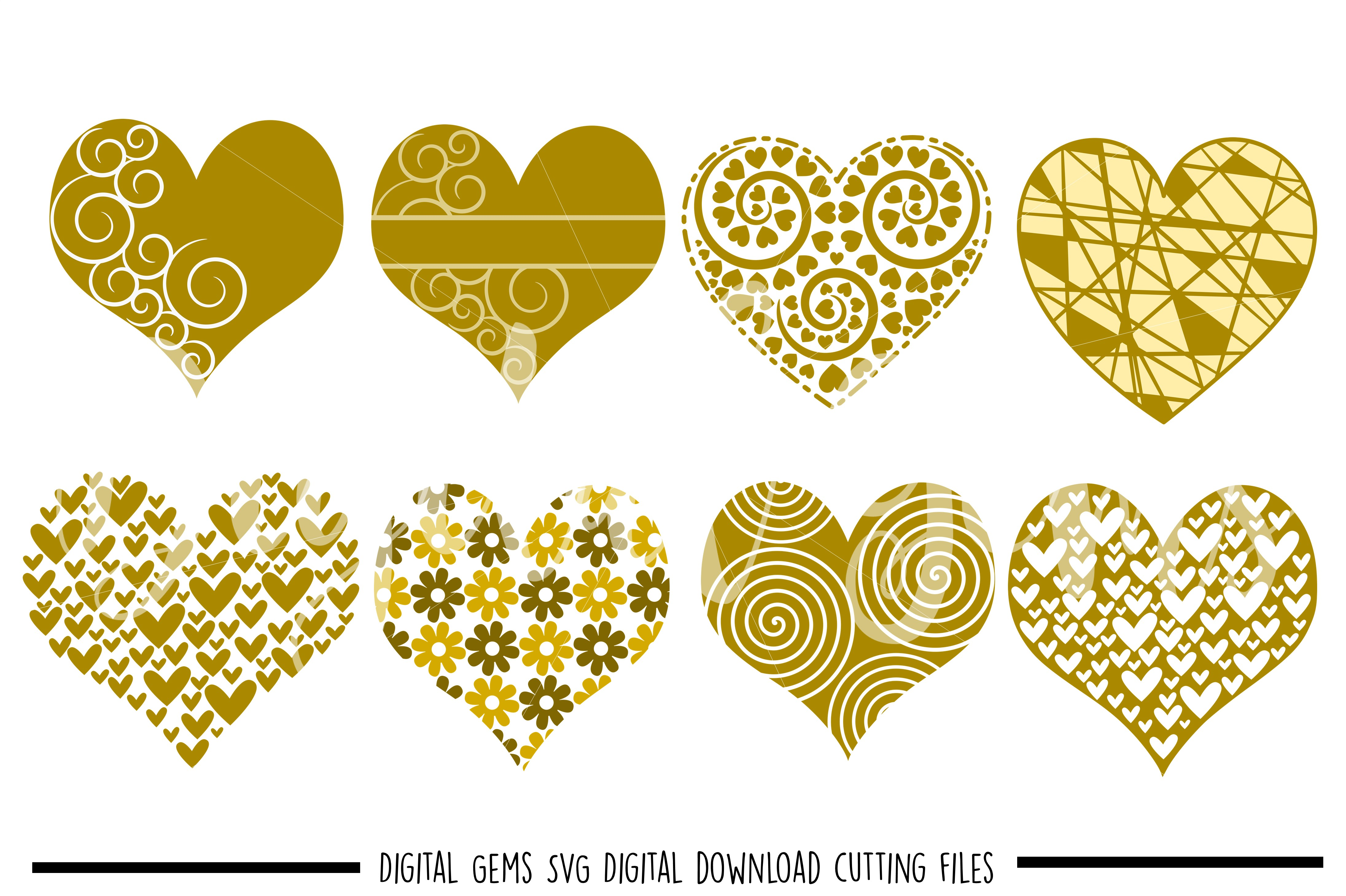Hearts SVG / PNG / EPS / DXF files example image 1