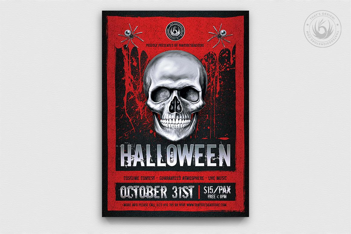 Halloween Flyer Bundle V8 example image 5
