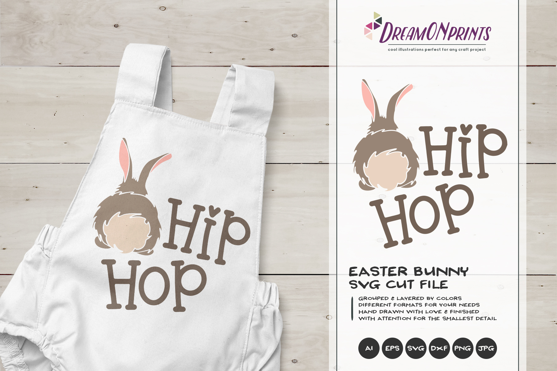 Easter SVG Bundle - The Funny Bunny Vector BUNDLE example image 6