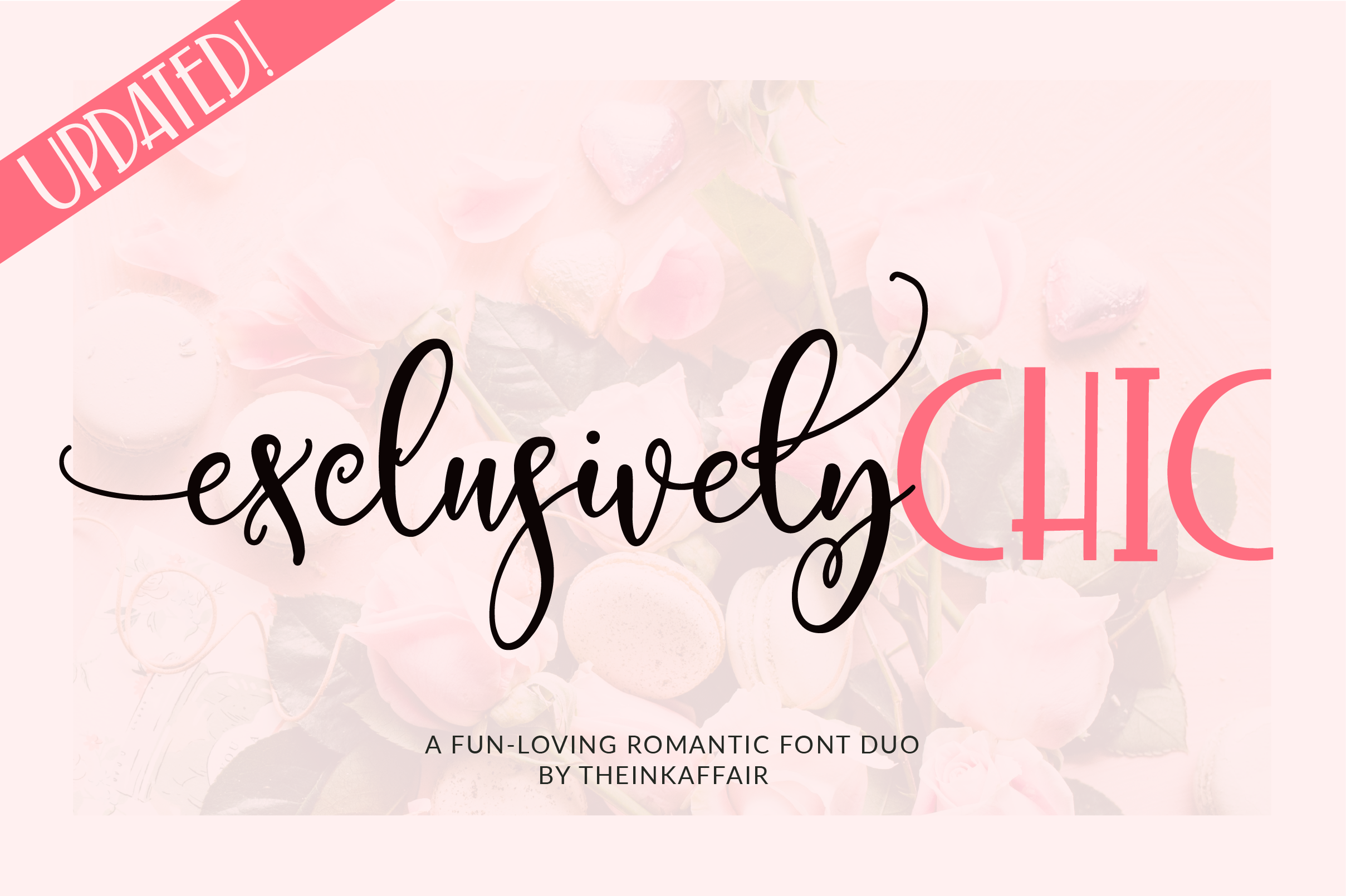 Exclusively Chic Font Duo example image 1