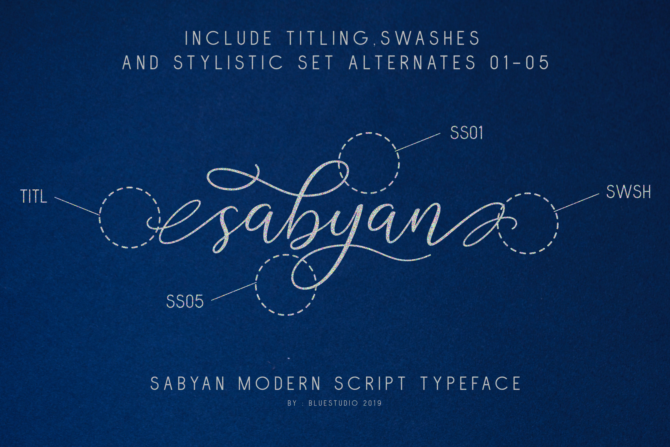 Sabyan // Modern Script Typeface example image 3