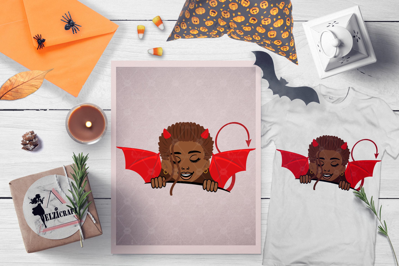 BUNDLE Halloween Afro Girls SVG Cut Files example image 9