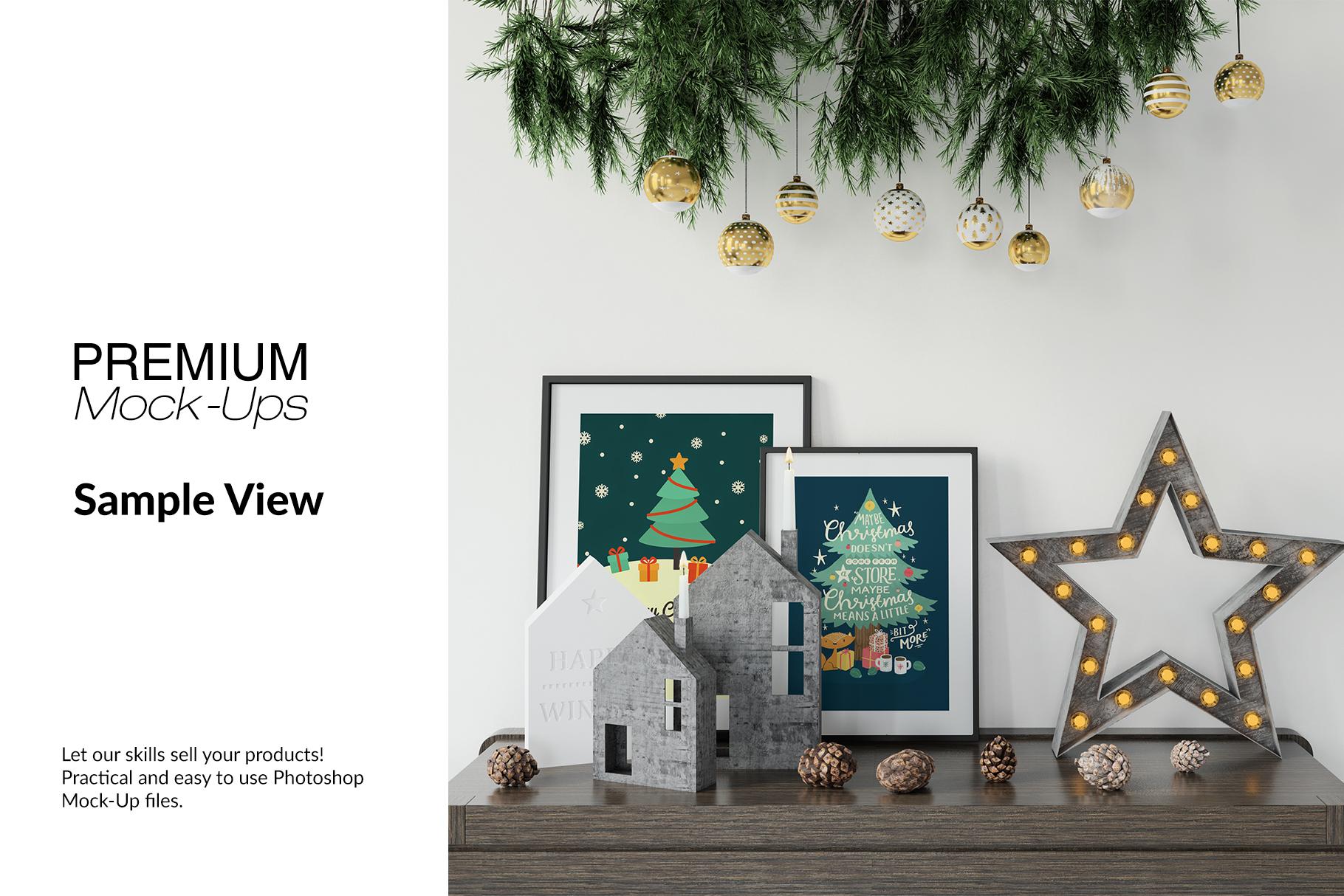 Christmas Frames & Wall Set example image 15