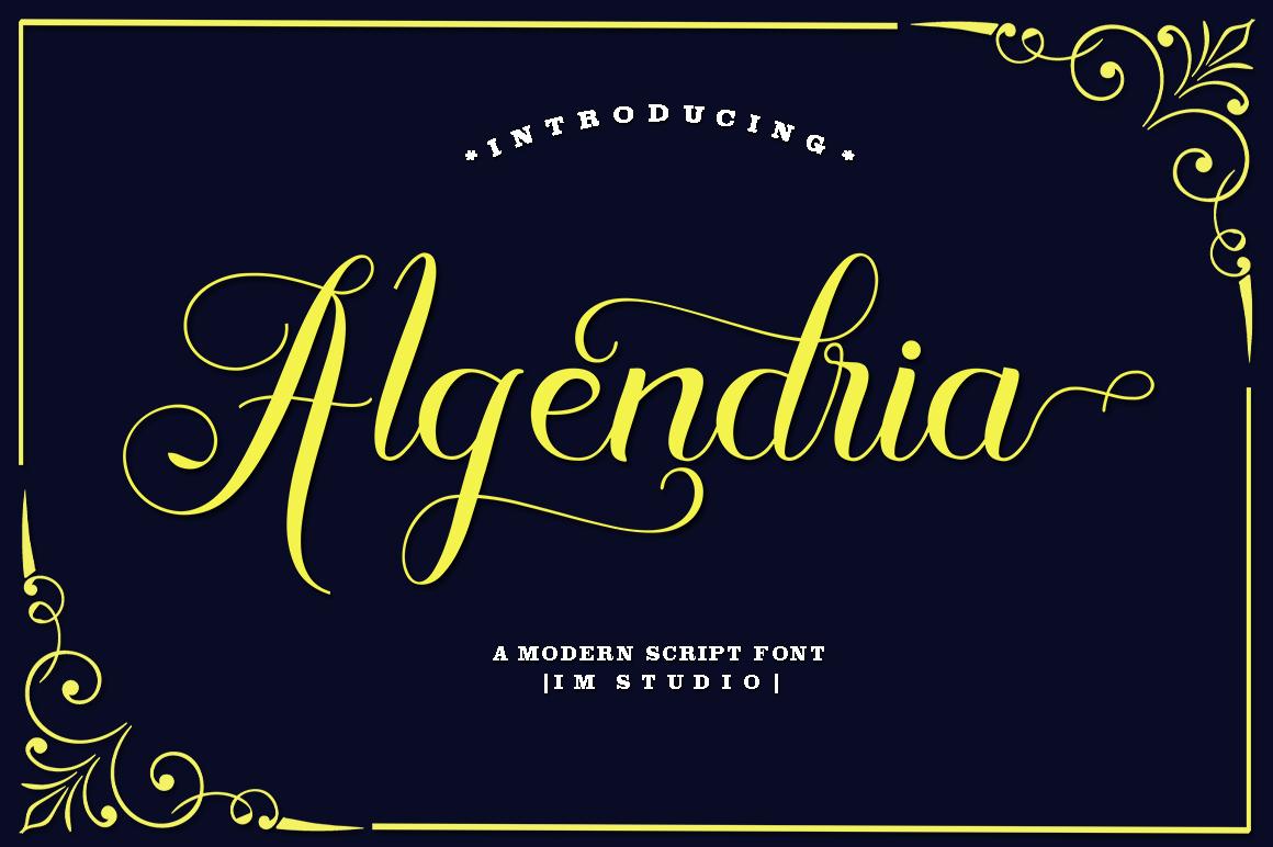 Algendria Modern Script Font example image 1