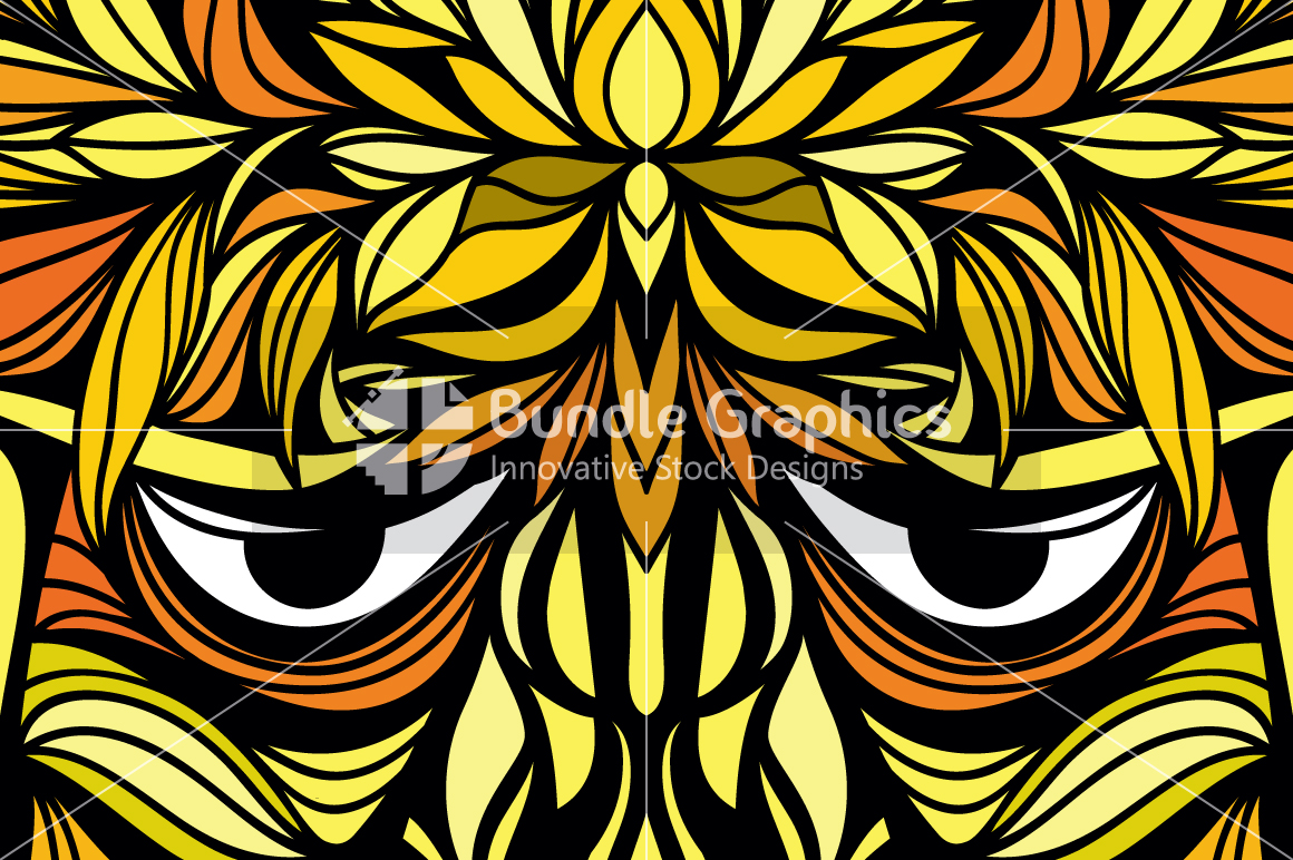 Tribal Face - Artistic Design Composition example image 2