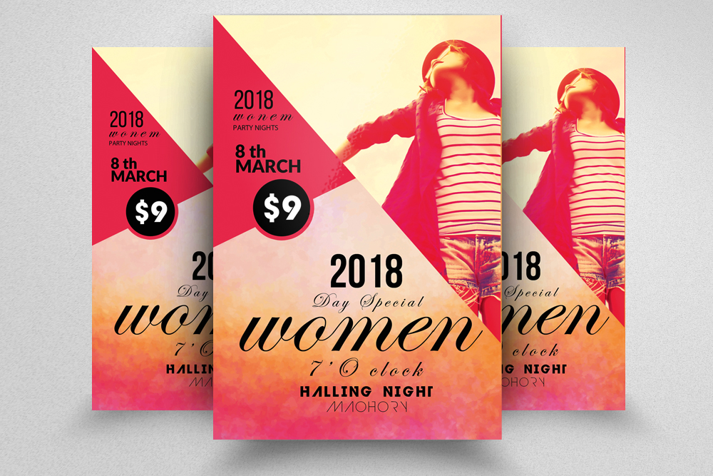 10 Women's Day Flyers Bundle example image 8