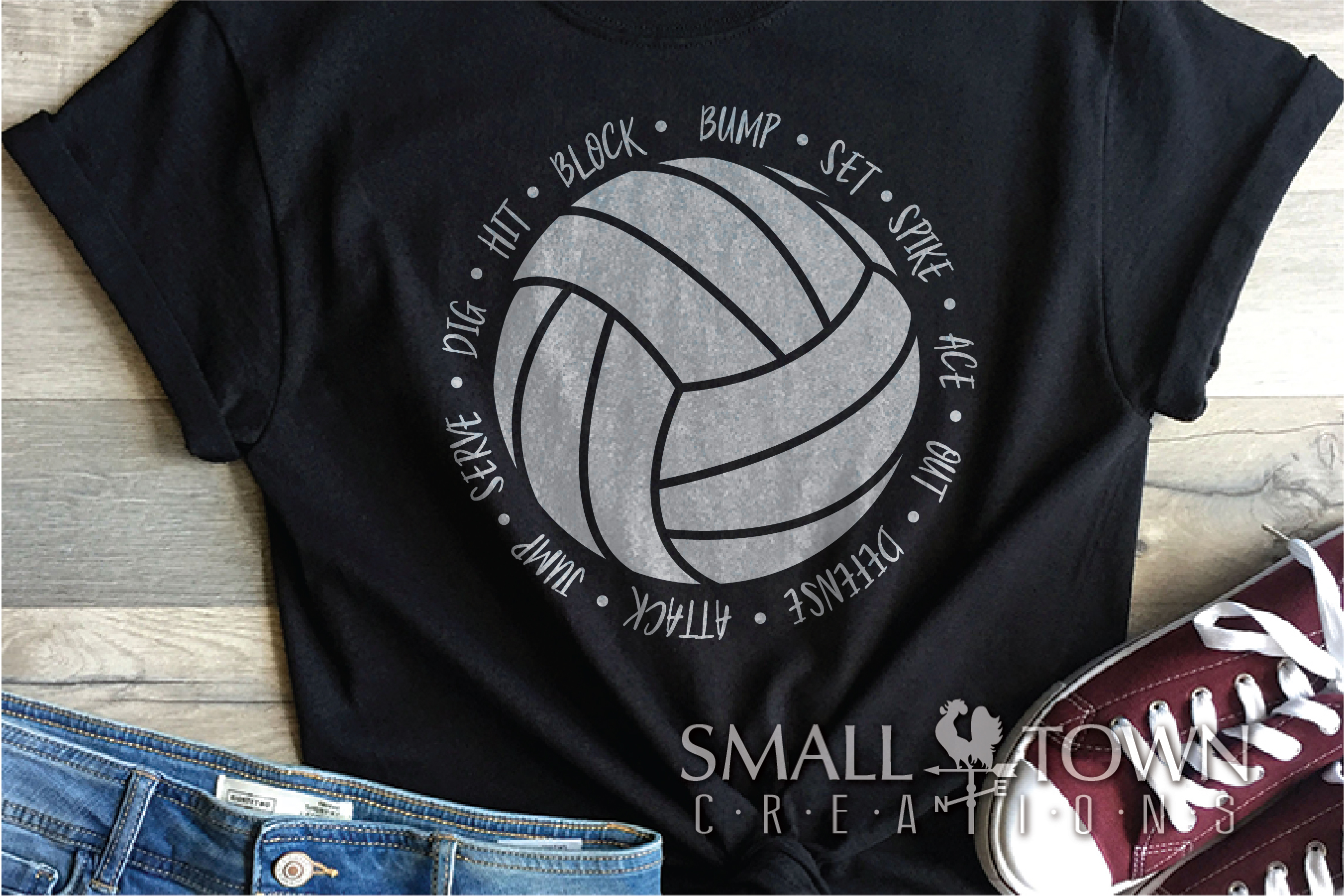Volleyball, Ball, Sport, Team, Logo, PRINT, CUT & DESIGN example image 1