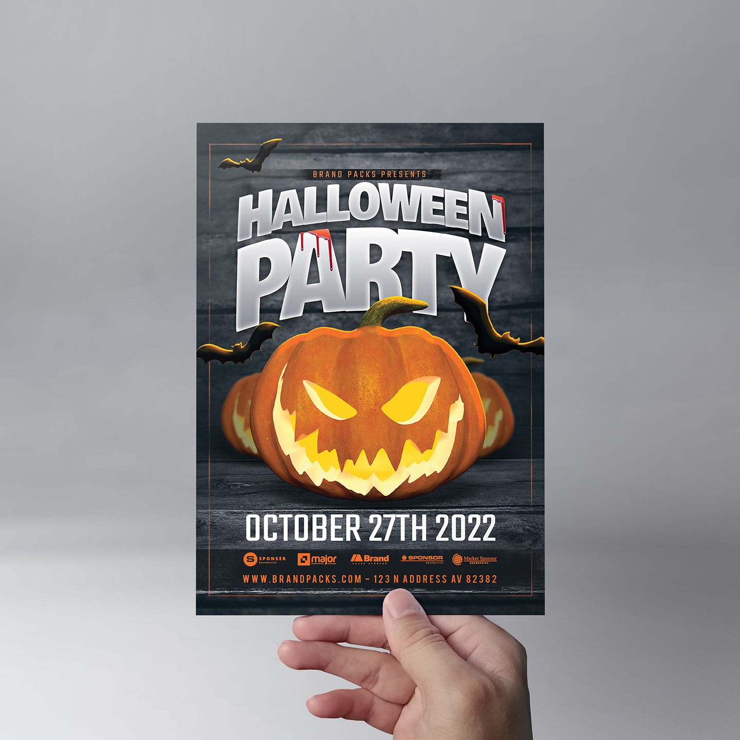 Halloween Party Flyer Template example image 5