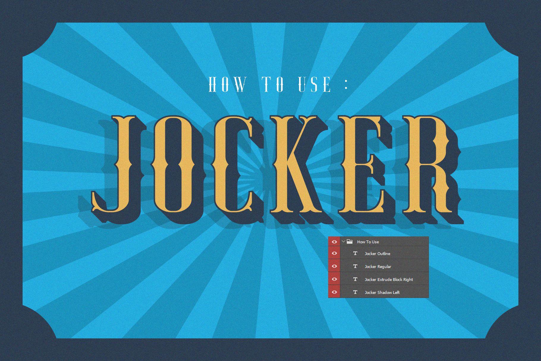 Jocker - Vintage Serif Font Family example image 3