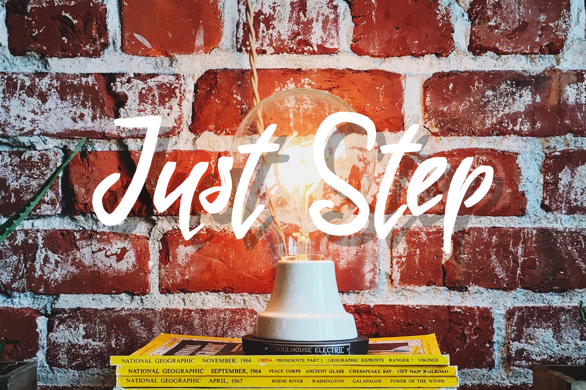 Just Step Typeface - Hand Drawn Font example image 2