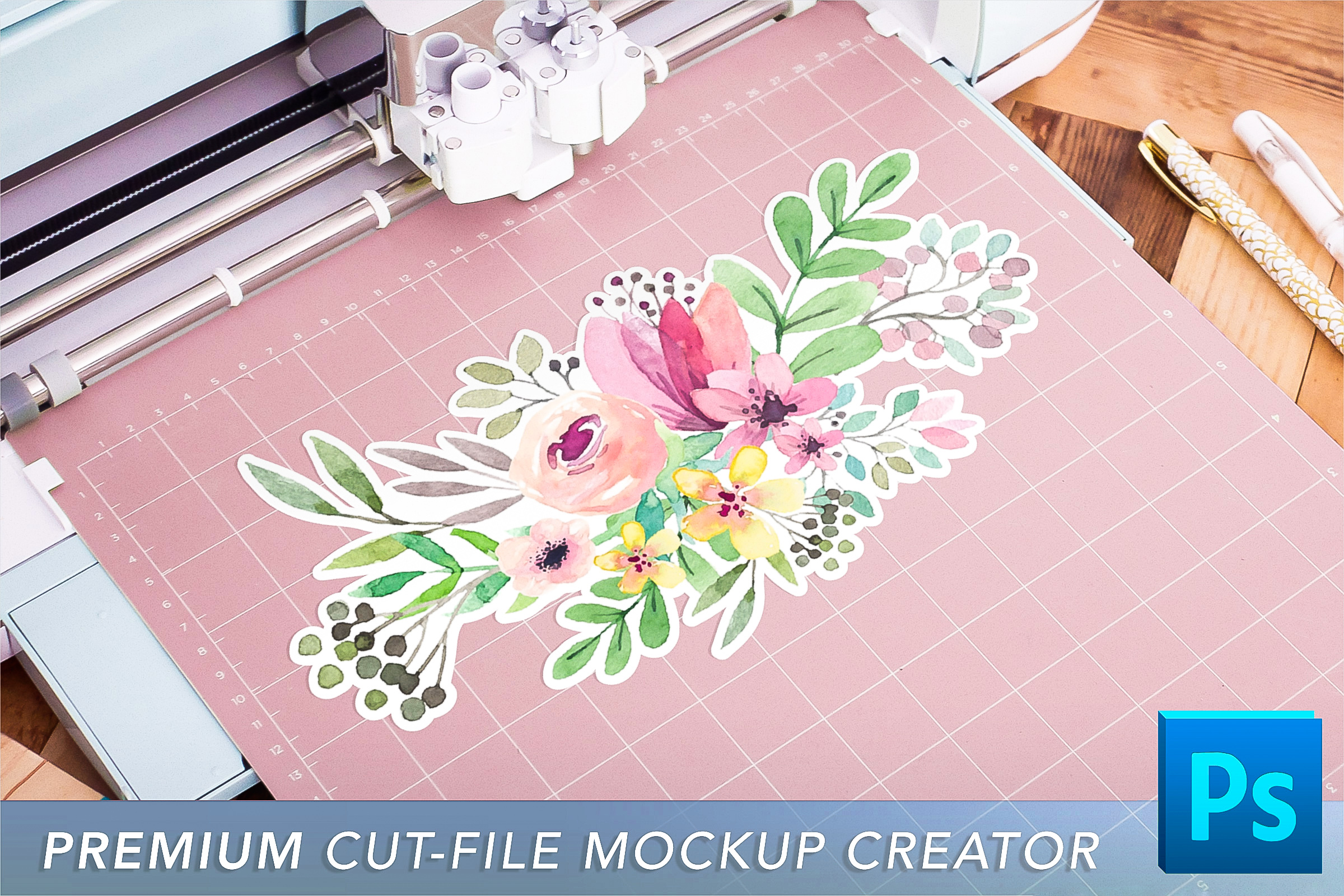 Cut File Mockup Scene for SVG, PNG, and more! example image 1