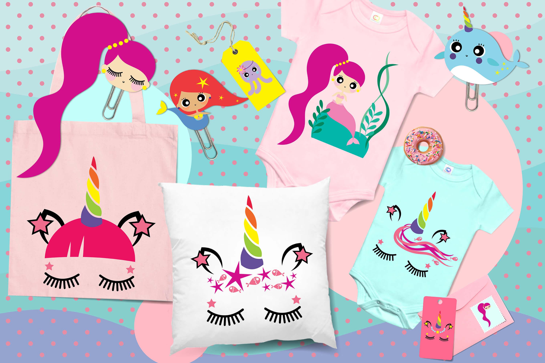 Cute mermaids & unicorns high res example image 3