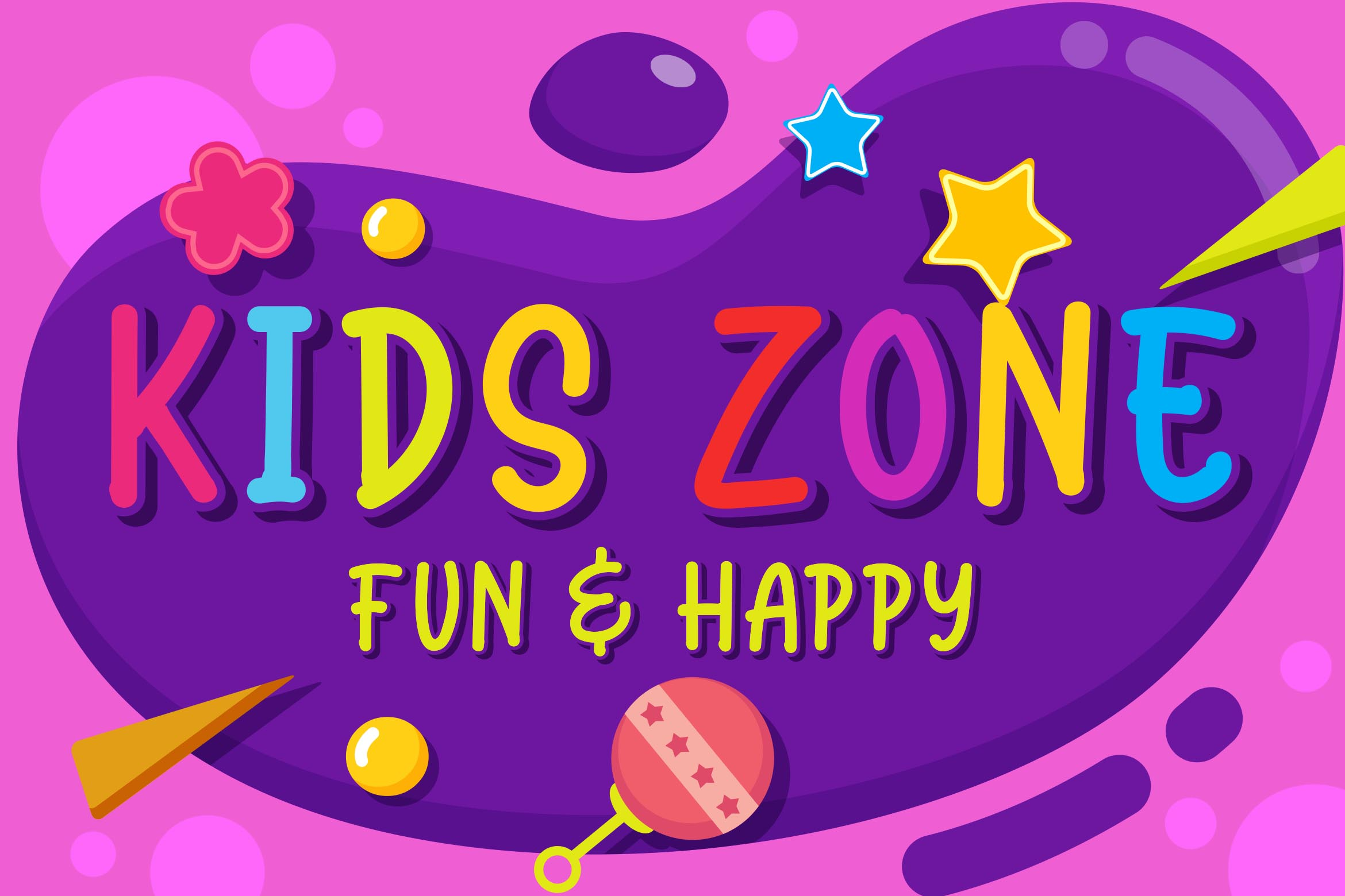 Kidstay - Layered Playful Font example image 4