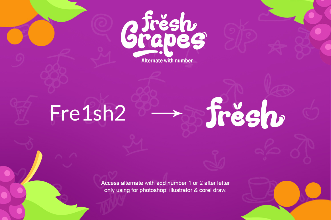 Fresh Grapes 4 Font example image 4