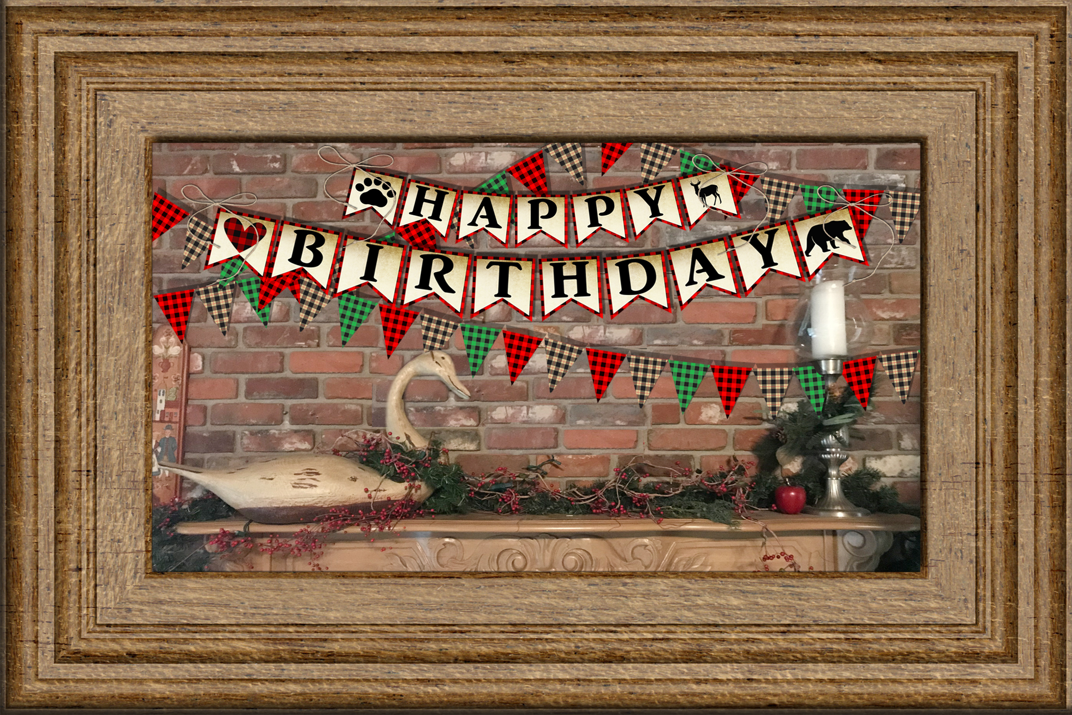 Buffalo Plaid Party Signs/ Wordart /Sayings example image 3