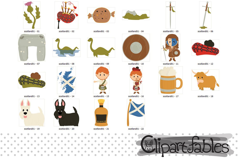 Scotland clipart, Scottish art, travel, instant download example image 2