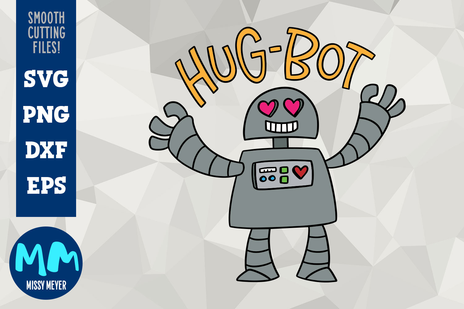 Hug-Bot - a cartoon robot programmed for hugging! example image 1