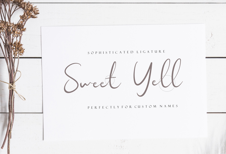 Sweet Yell - A Fun Handwritting example image 2