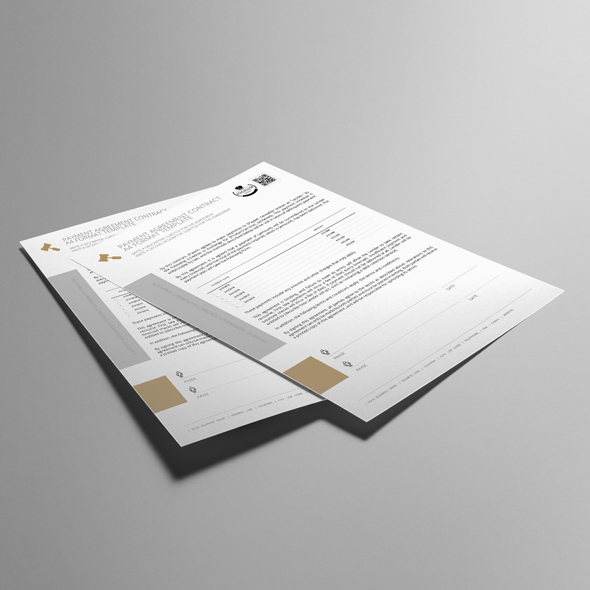 Payment Agreement Contract A4 Format Template example image 2
