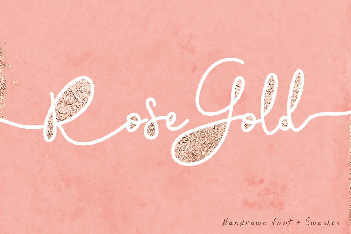 Rose Gold Font and Swatches example image 1