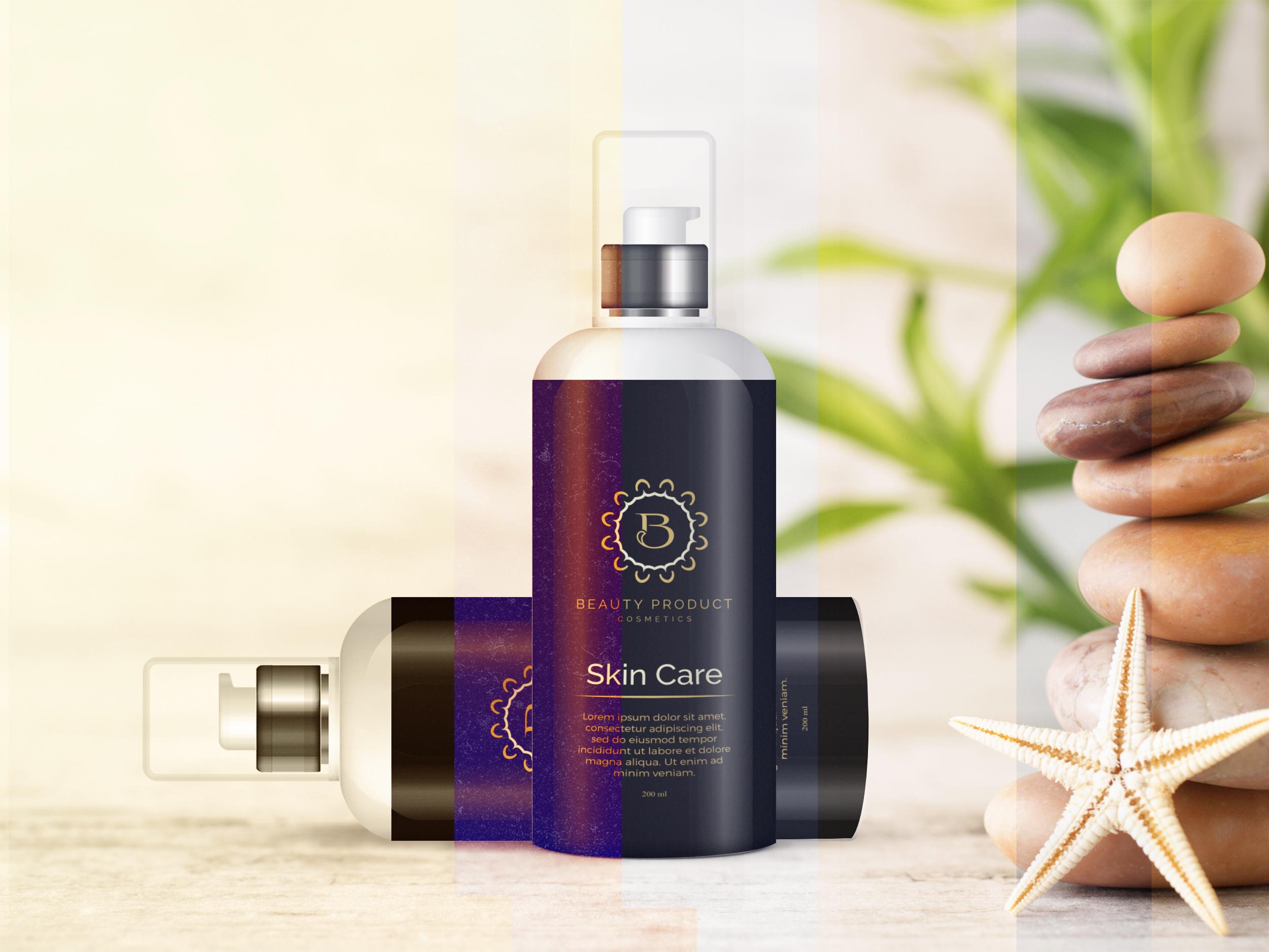Cosmetic Bottle Mockup, Shampoo and Oil Bottle mock up example image 1