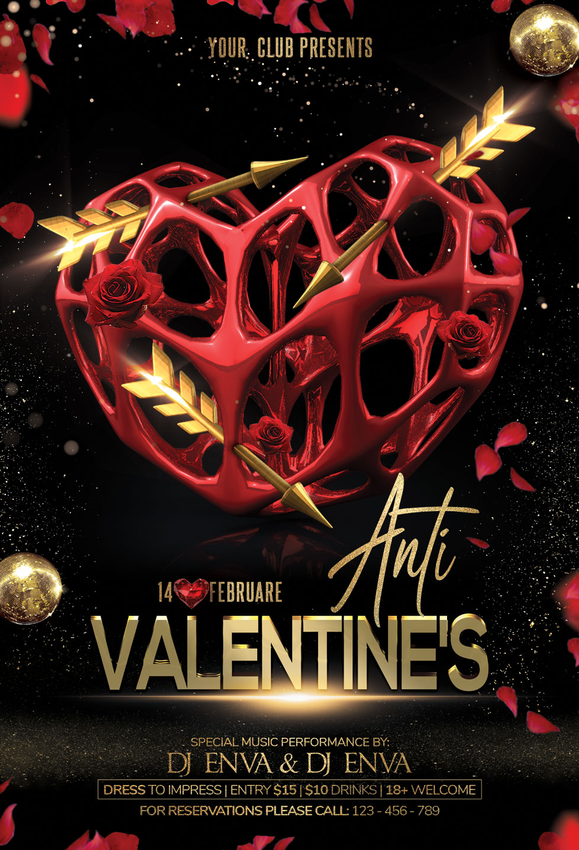 Anti Valentine Day Flyer example image 3