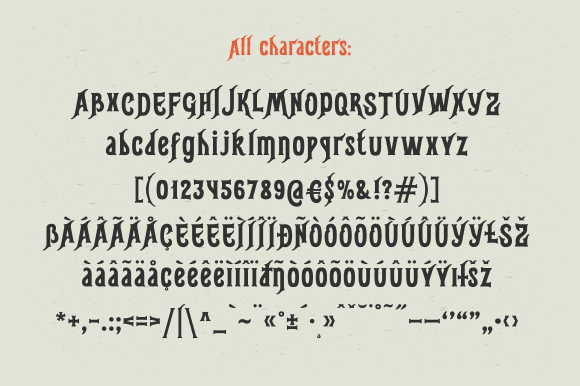 Gunshot typeface example image 5