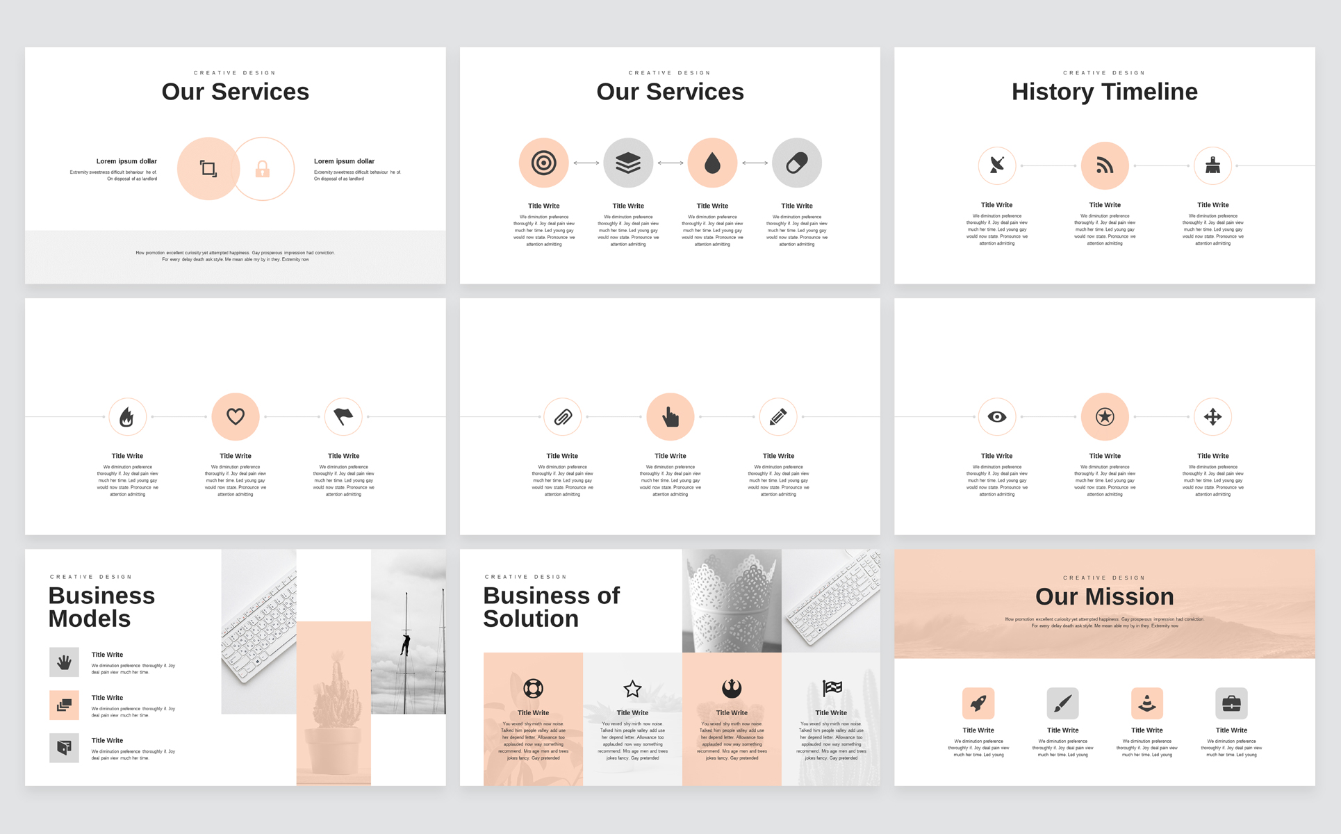 Minimal Business PowerPoint Presentation Template example image 4