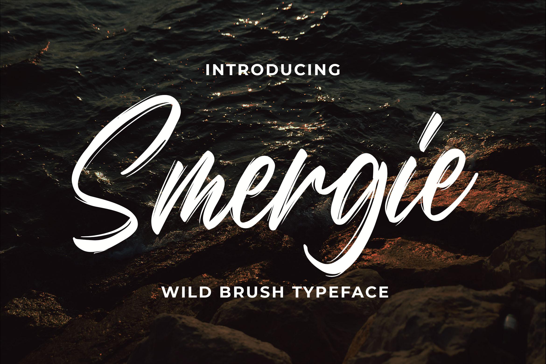 Smergie - Wild Brush Typeface example image 1