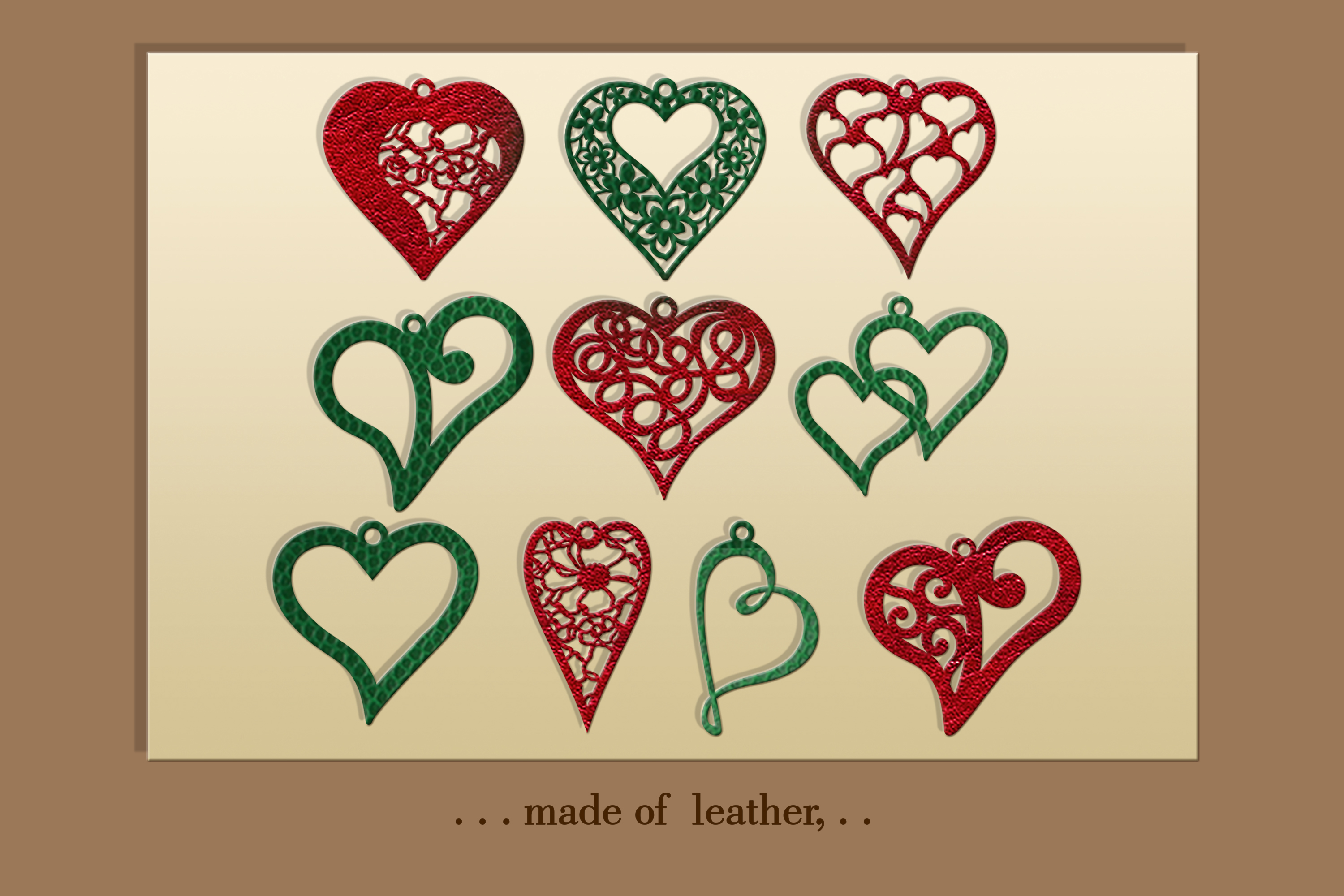 10 Valentine Love earrings svg Leather earrings svg Necklace example image 3