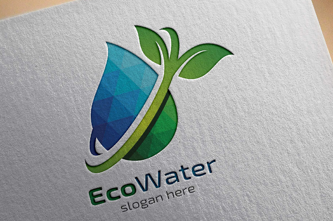 Water Drop Ecology logo template example image 4